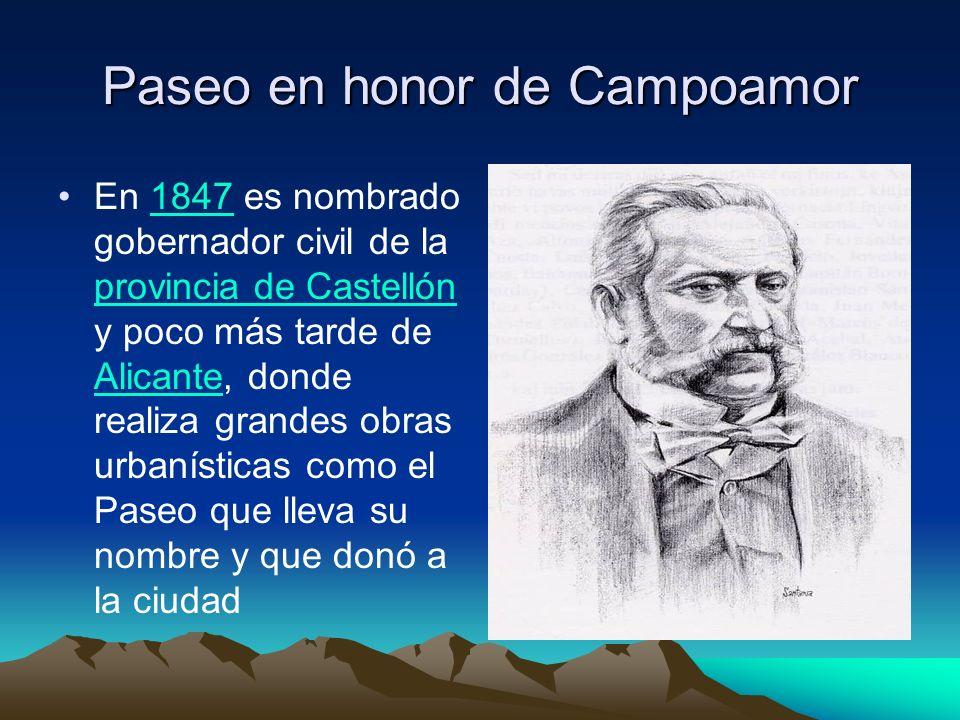 Paseo en honor de Campoamor