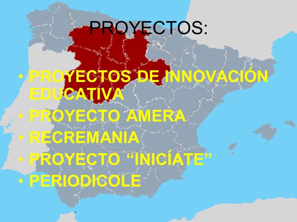 PROYECTOS: PROYECTOS DE INNOVACIÓN EDUCATIVA PROYECTO AMERA RECREMANIA