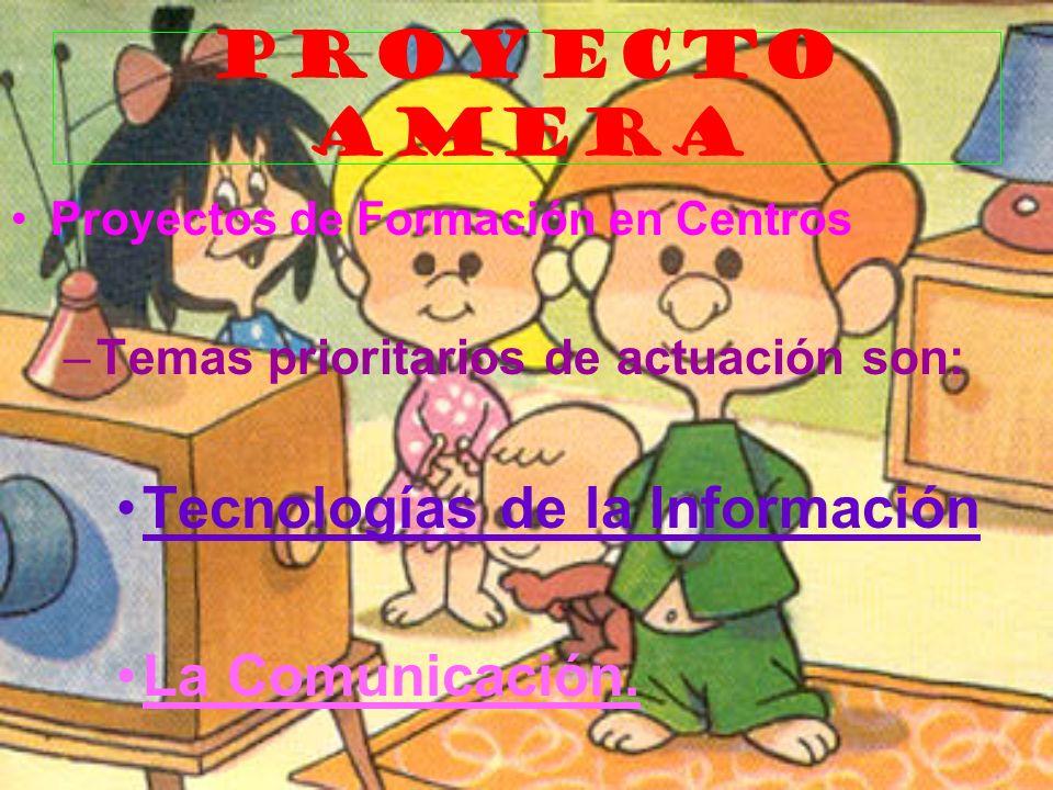 PROYECTO AMERA Tecnologías de la Información La Comunicación.