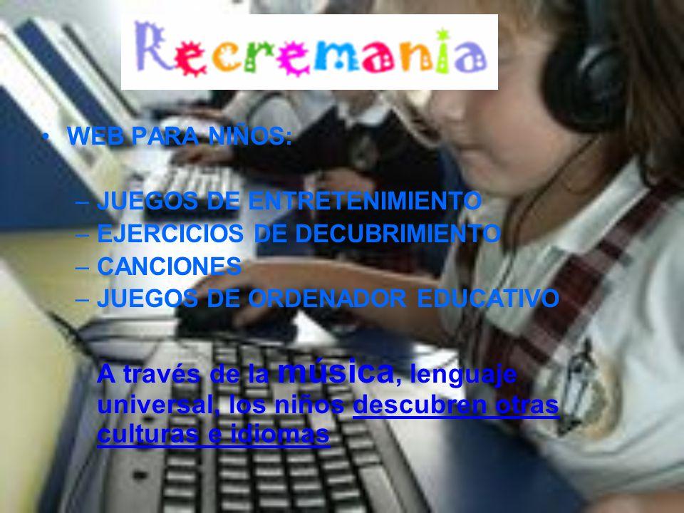 JUEGOS DE ENTRETENIMIENTO EJERCICIOS DE DECUBRIMIENTO CANCIONES