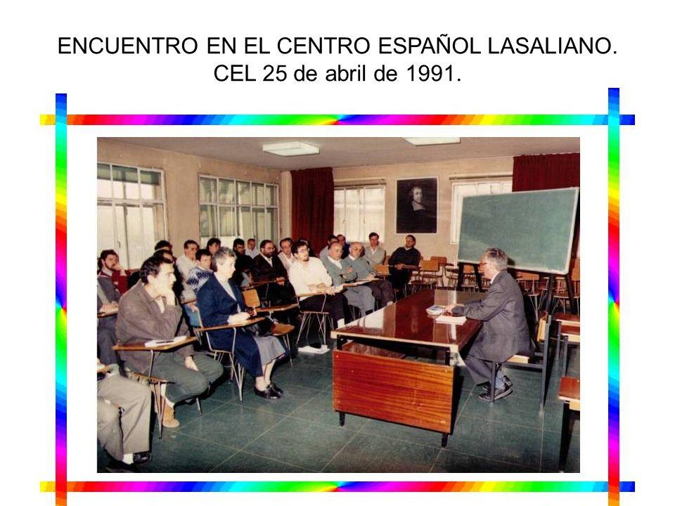 ENCUENTRO EN EL CENTRO ESPAÑOL LASALIANO.