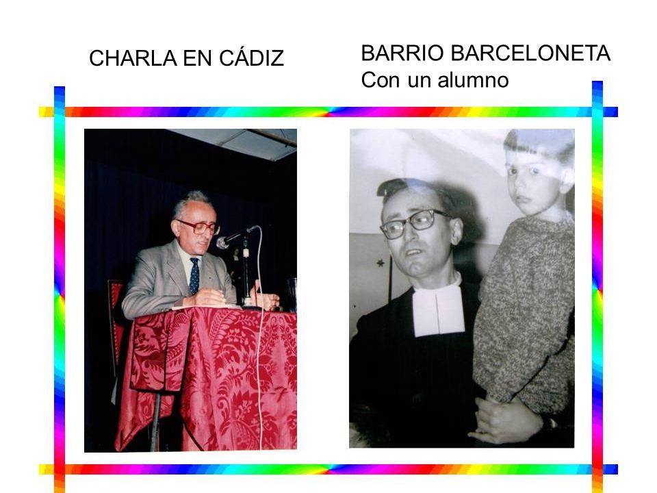 BARRIO BARCELONETA Con un alumno CHARLA EN CÁDIZ