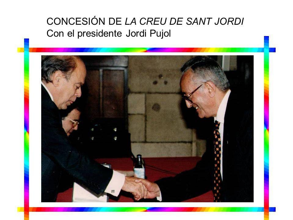 CONCESIÓN DE LA CREU DE SANT JORDI