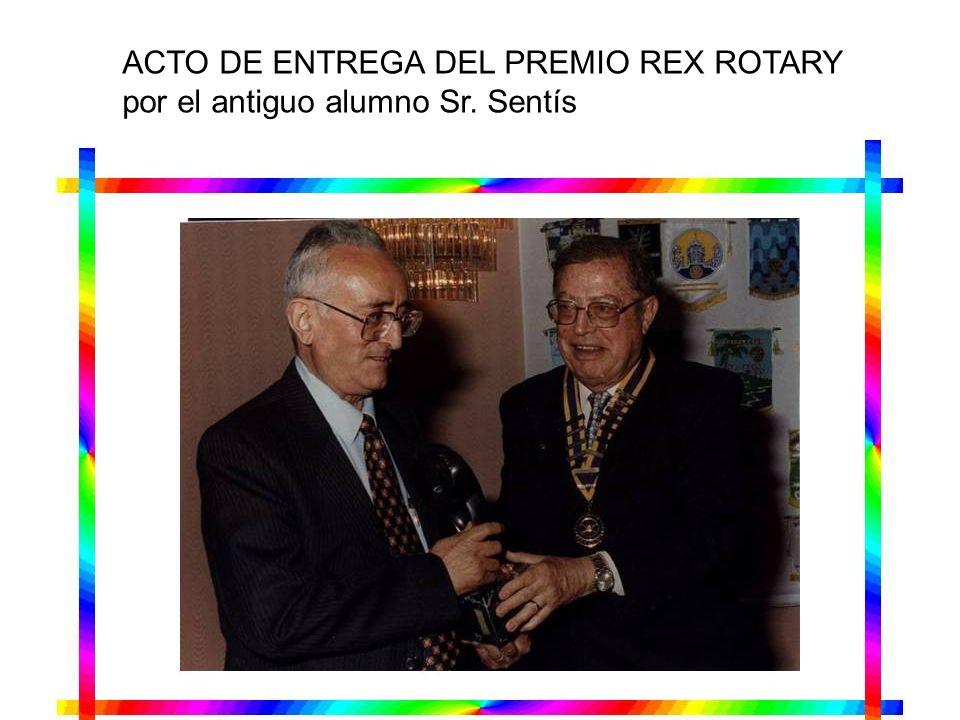 ACTO DE ENTREGA DEL PREMIO REX ROTARY