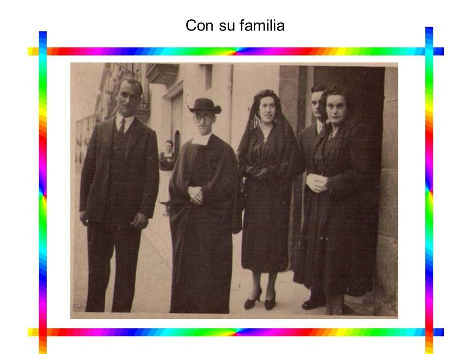 Con su familia
