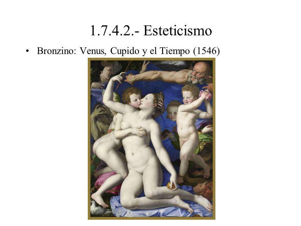 1.7.4.2.- Esteticismo Bronzino: Venus, Cupido y el Tiempo (1546)