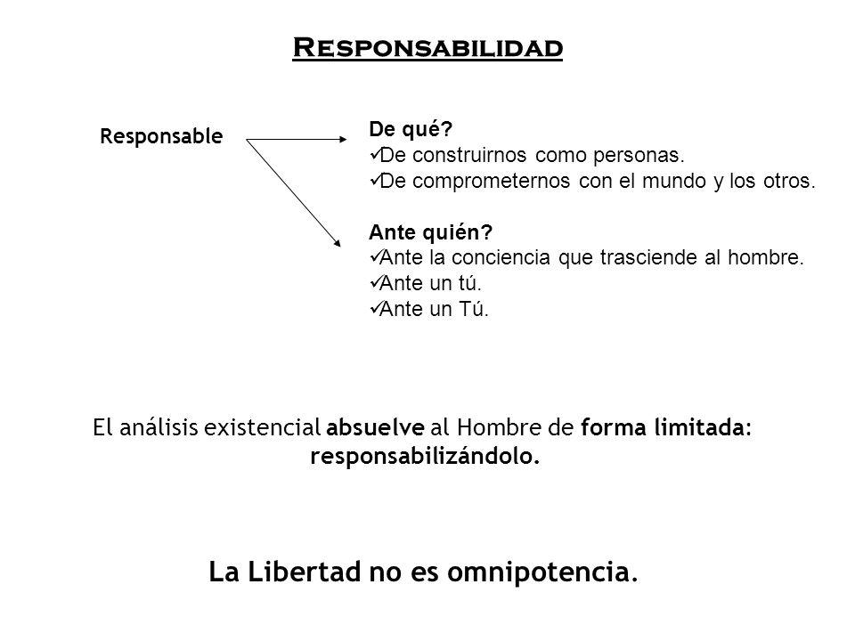 La Libertad no es omnipotencia.