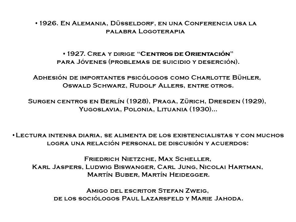 1927. Crea y dirige Centros de Orientación