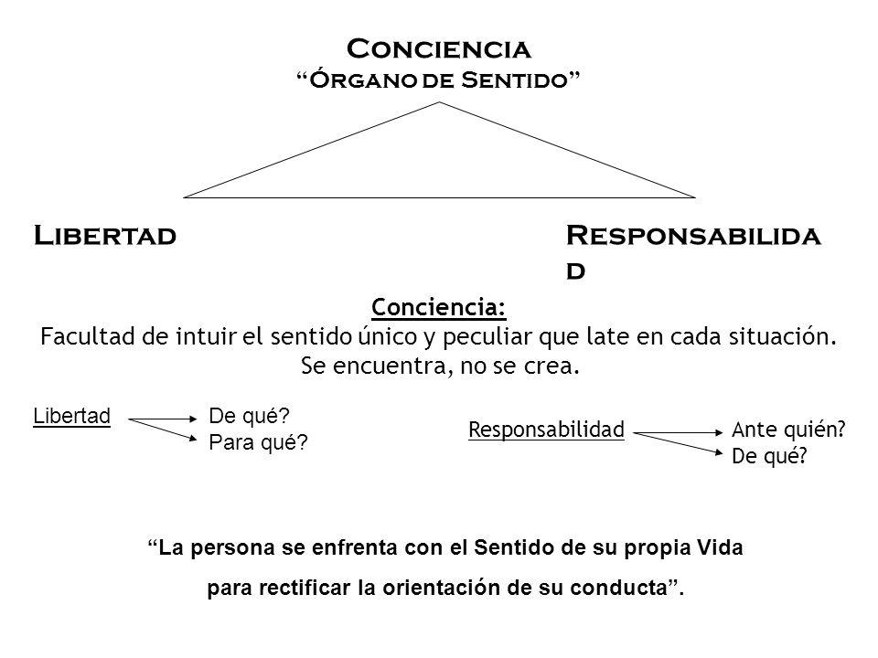 Conciencia Libertad Responsabilidad Órgano de Sentido Conciencia:
