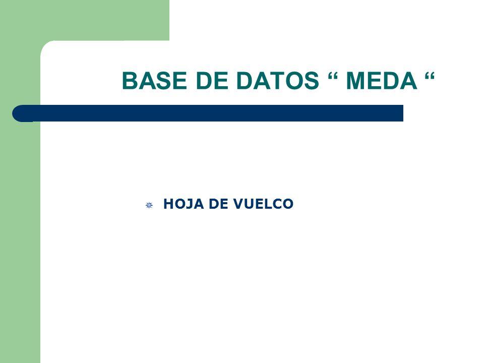 BASE DE DATOS MEDA HOJA DE VUELCO