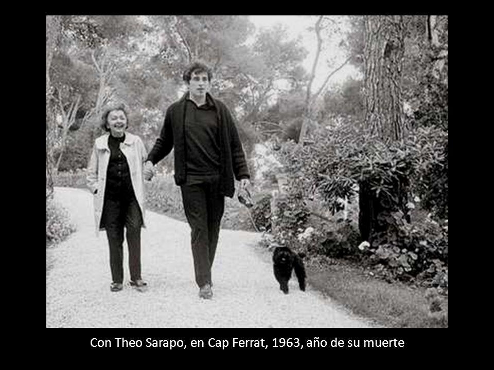 Con Theo Sarapo, en Cap Ferrat, 1963, año de su muerte