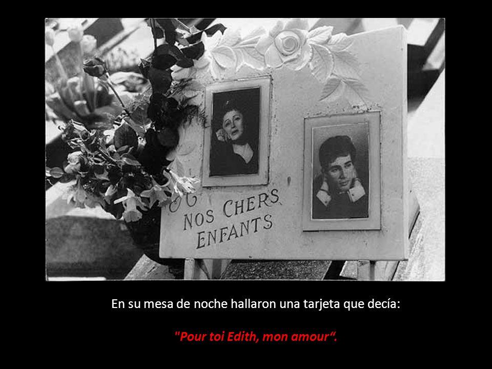 Pour toi Edith, mon amour .
