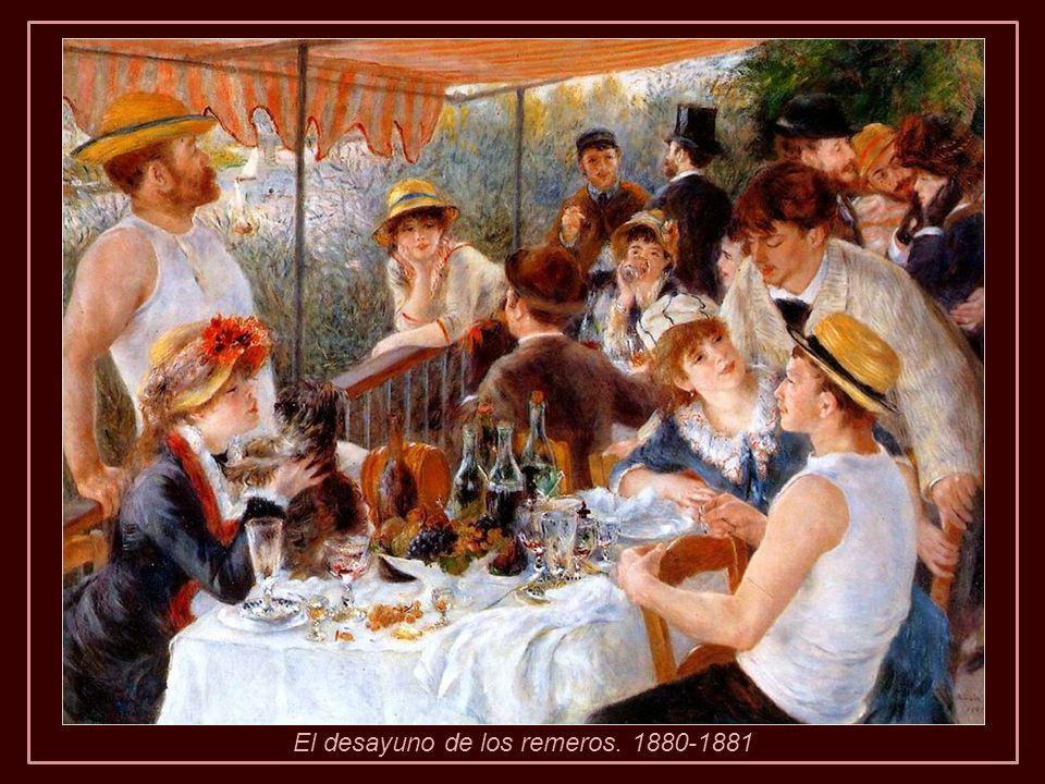 El desayuno de los remeros. 1880-1881
