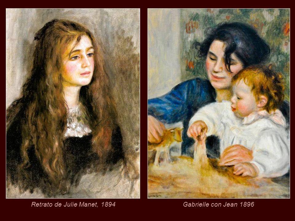 Retrato de Julie Manet, 1894 Gabrielle con Jean 1896