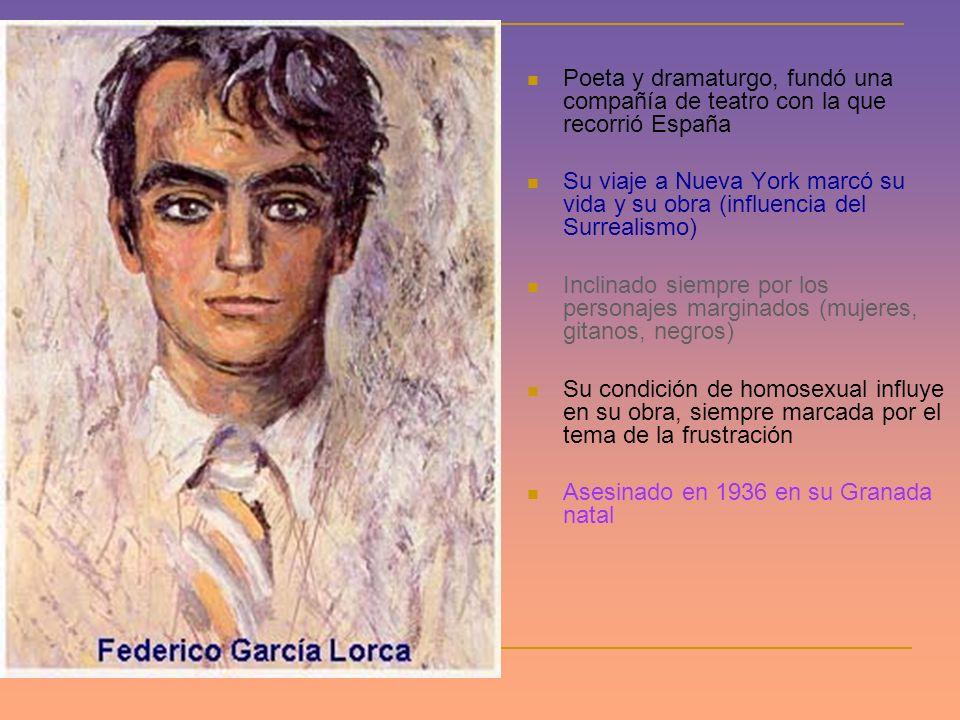 Poeta y dramaturgo, fundó una compañía de teatro con la que recorrió España