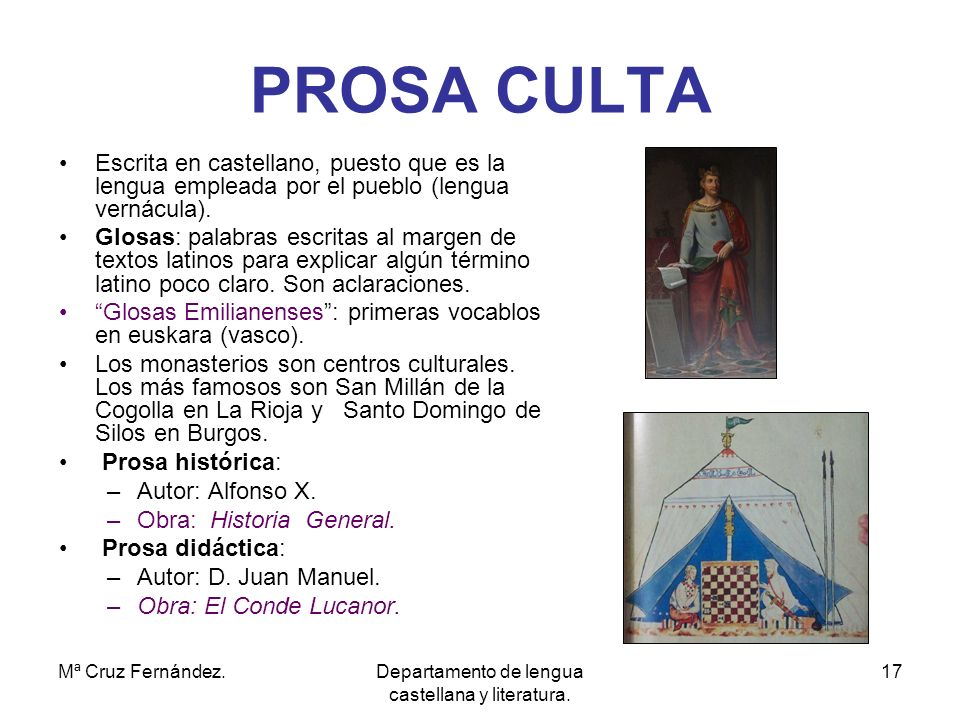 Departamento de lengua castellana y literatura.