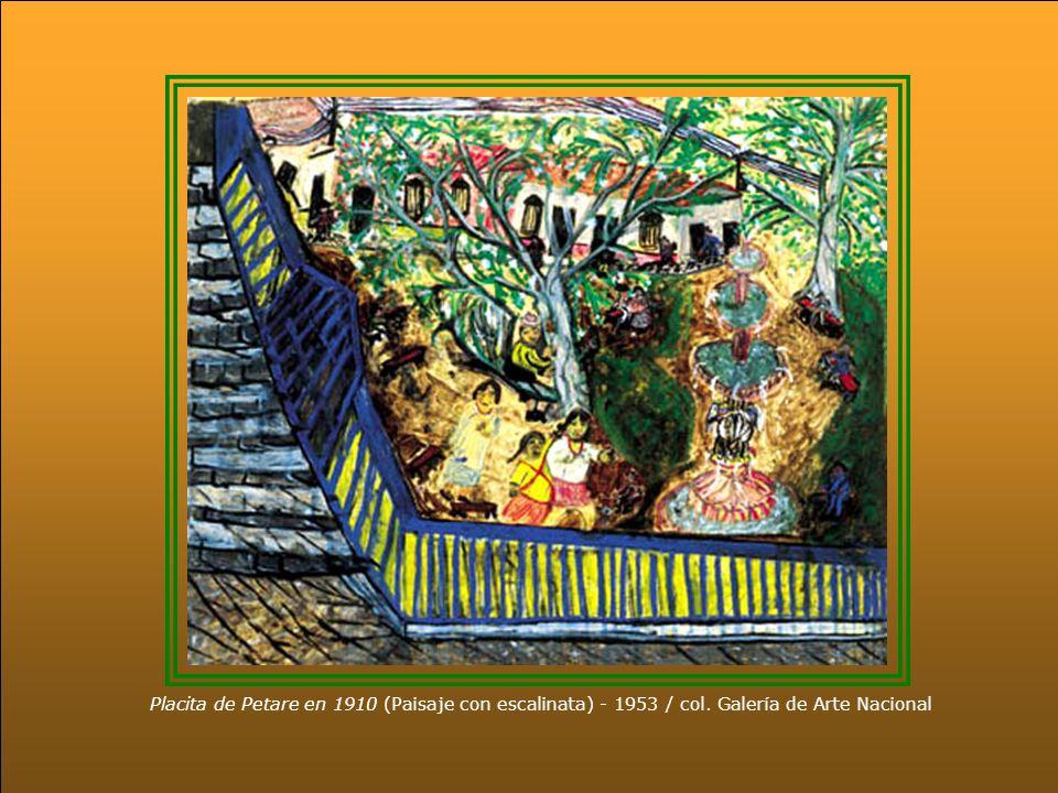 Placita de Petare en 1910 (Paisaje con escalinata) - 1953 / col