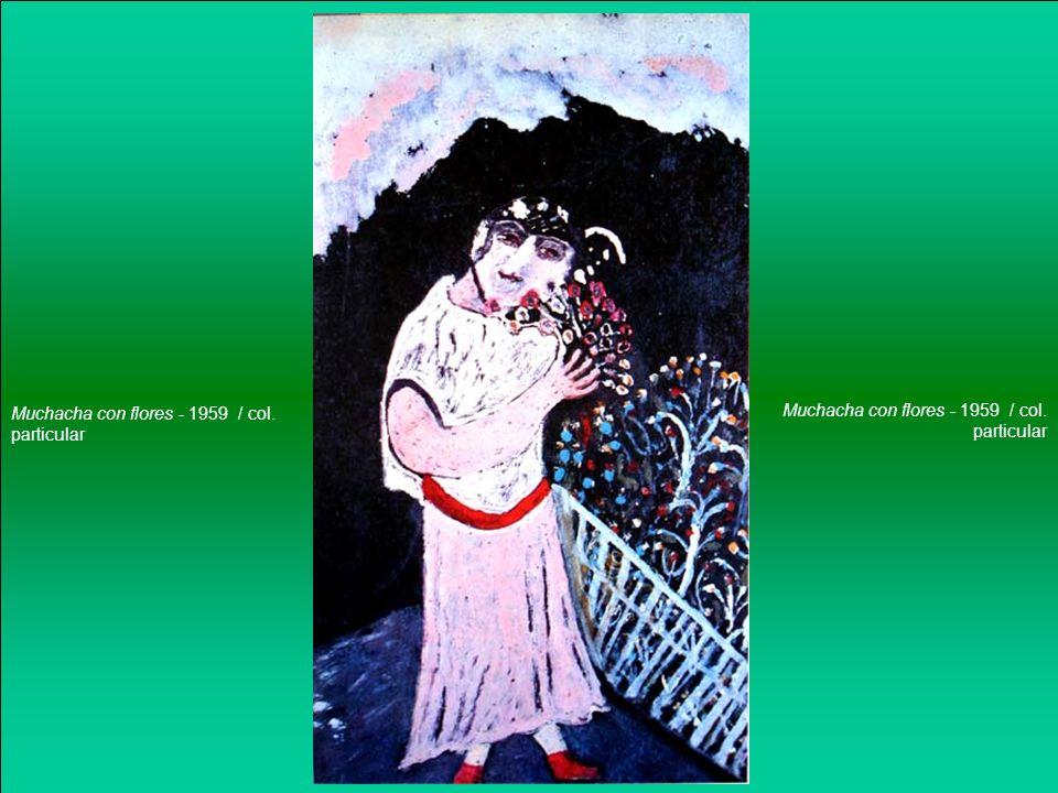 Muchacha con flores - 1959 / col. particular