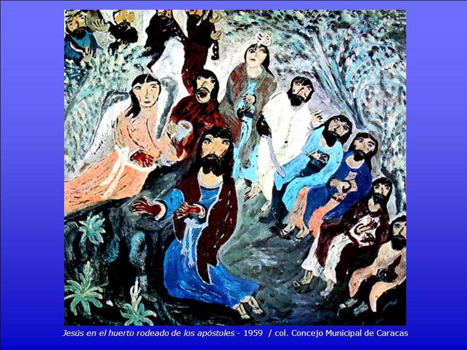 Jesús en el huerto rodeado de los apóstoles - 1959 / col
