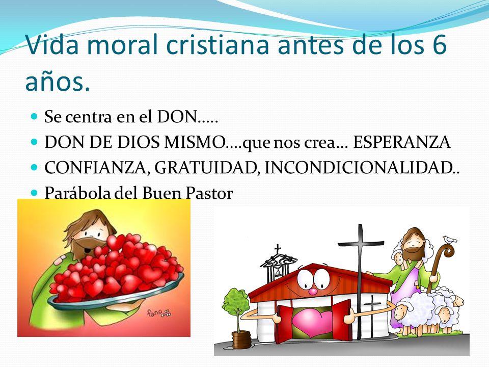 Vida moral cristiana antes de los 6 años.