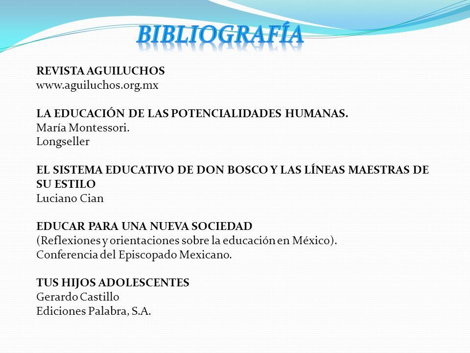 BIBLIOGRAFÍA REVISTA AGUILUCHOS www.aguiluchos.org.mx