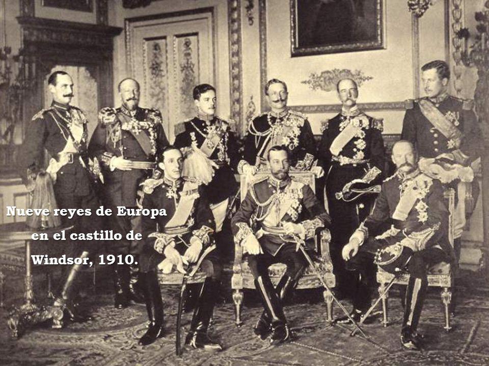 Nueve reyes de Europa en el castillo de Windsor, 1910.