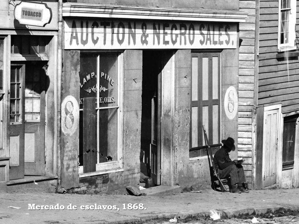 Mercado de esclavos, 1868.