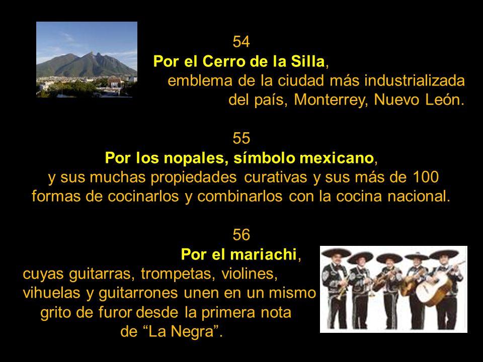 Por los nopales, símbolo mexicano,
