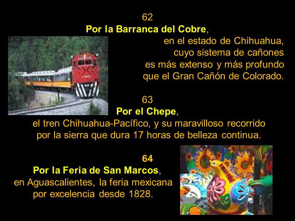 Por la Barranca del Cobre, en el estado de Chihuahua,