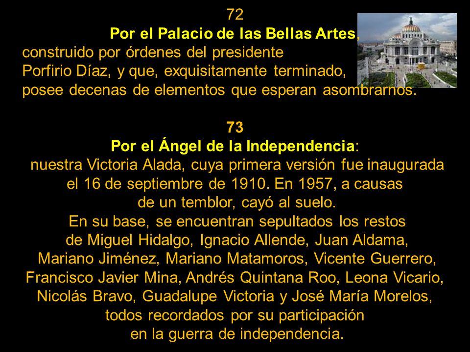 Por el Palacio de las Bellas Artes,