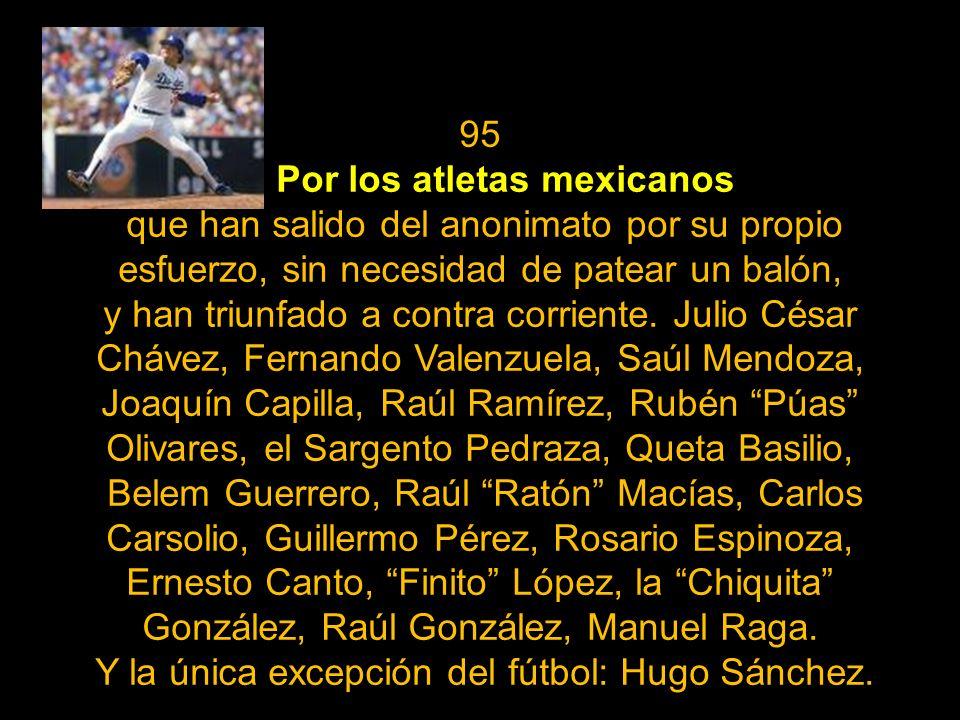 Por los atletas mexicanos
