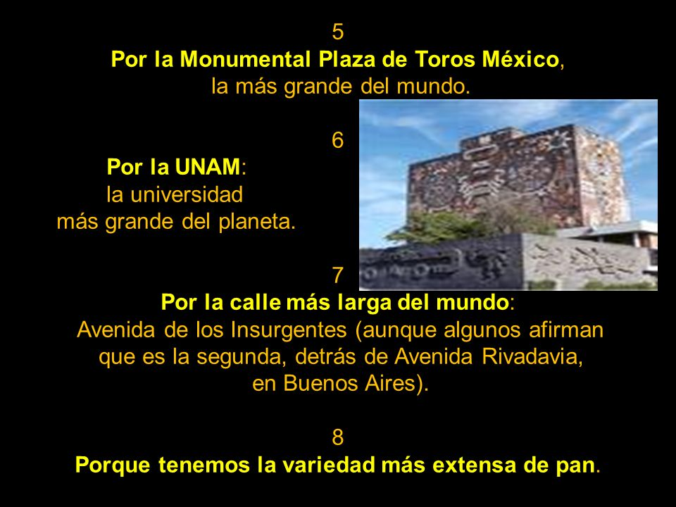 Por la Monumental Plaza de Toros México, la más grande del mundo. 6