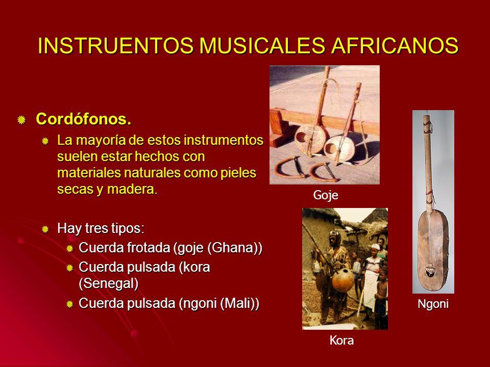 INSTRUENTOS MUSICALES AFRICANOS