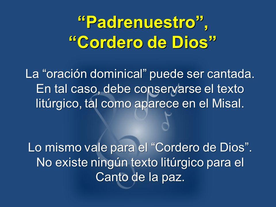 Padrenuestro , Cordero de Dios