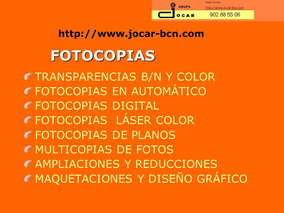 FOTOCOPIAS TRANSPARENCIAS B/N Y COLOR FOTOCOPIAS EN AUTOMÁTICO