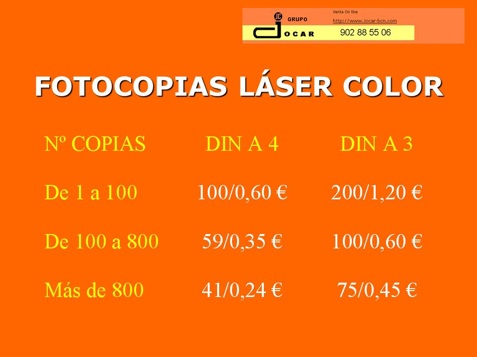 FOTOCOPIAS LÁSER COLOR
