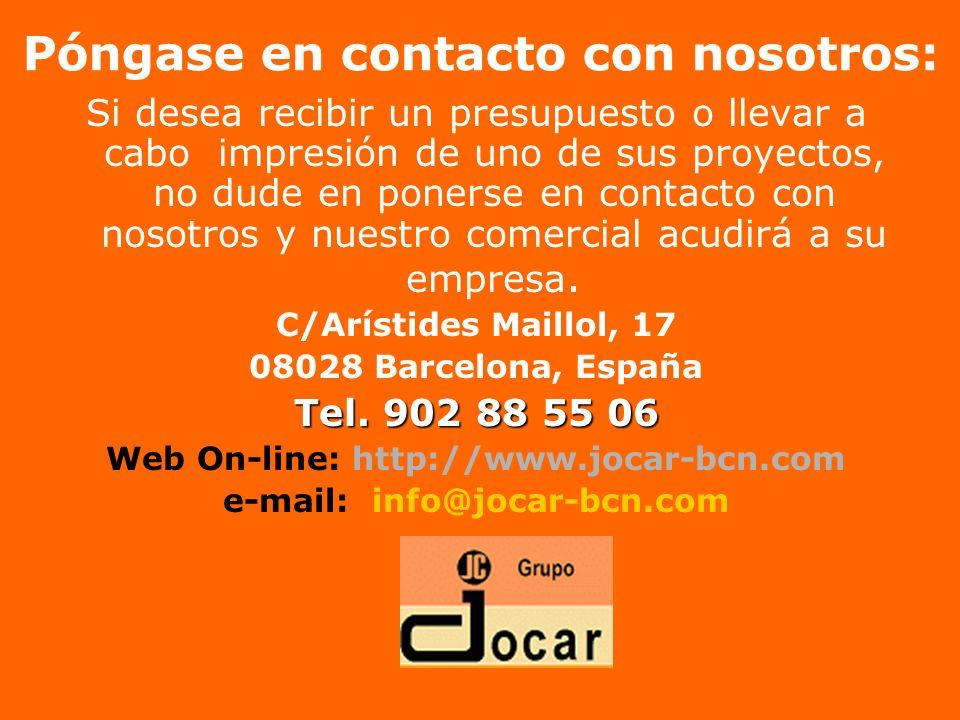 Póngase en contacto con nosotros: