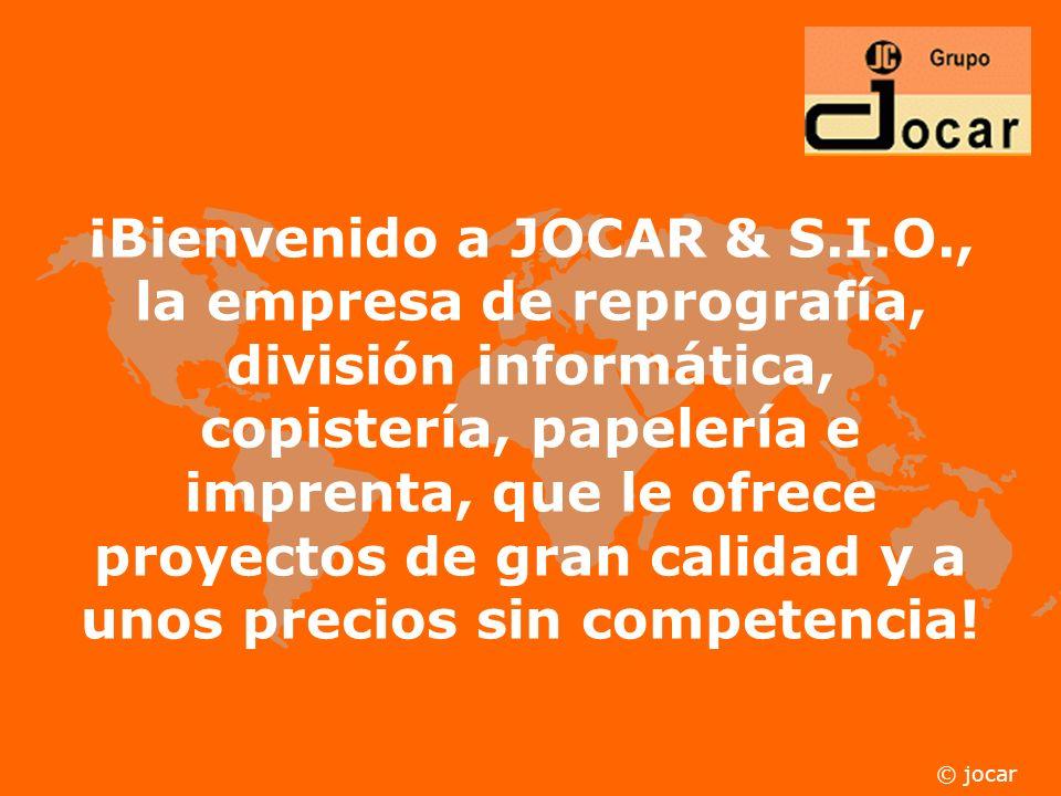 ¡Bienvenido a JOCAR & S. I. O