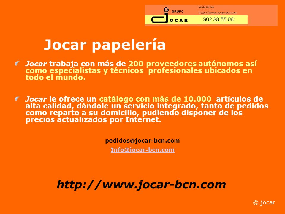 Jocar papelería http://www.jocar-bcn.com