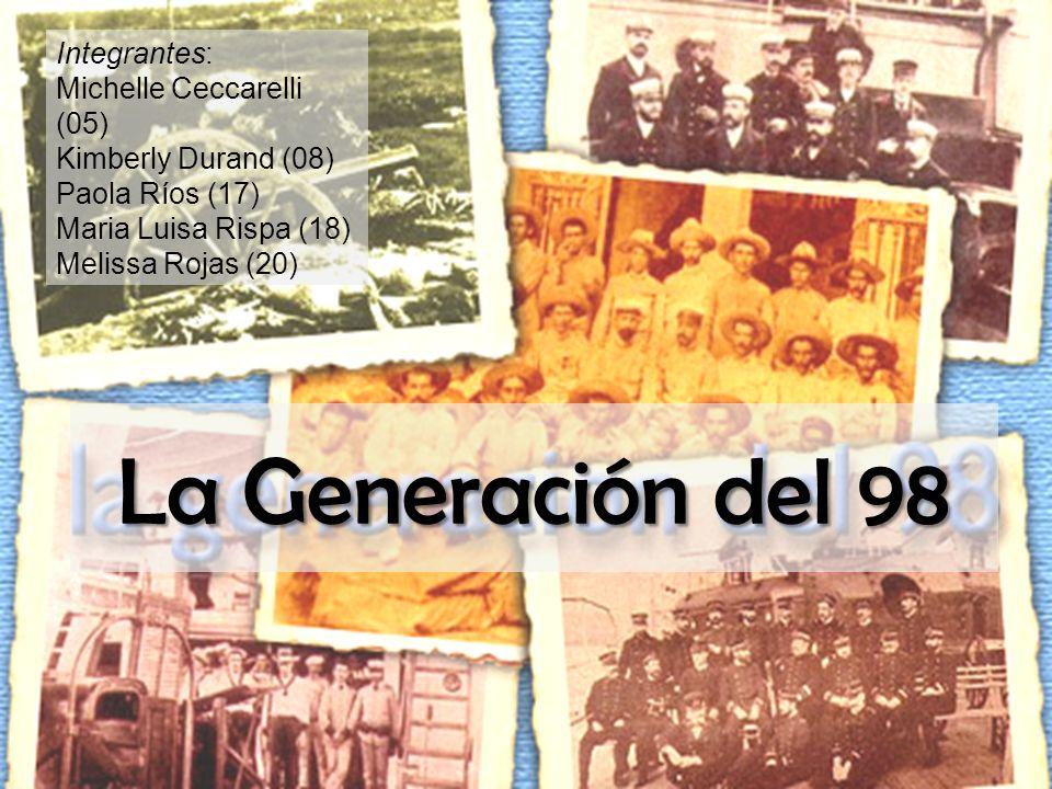 La Generación del 98 Integrantes: Michelle Ceccarelli (05)