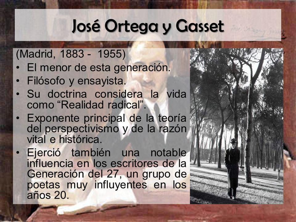 José Ortega y Gasset (Madrid, 1883 - 1955)