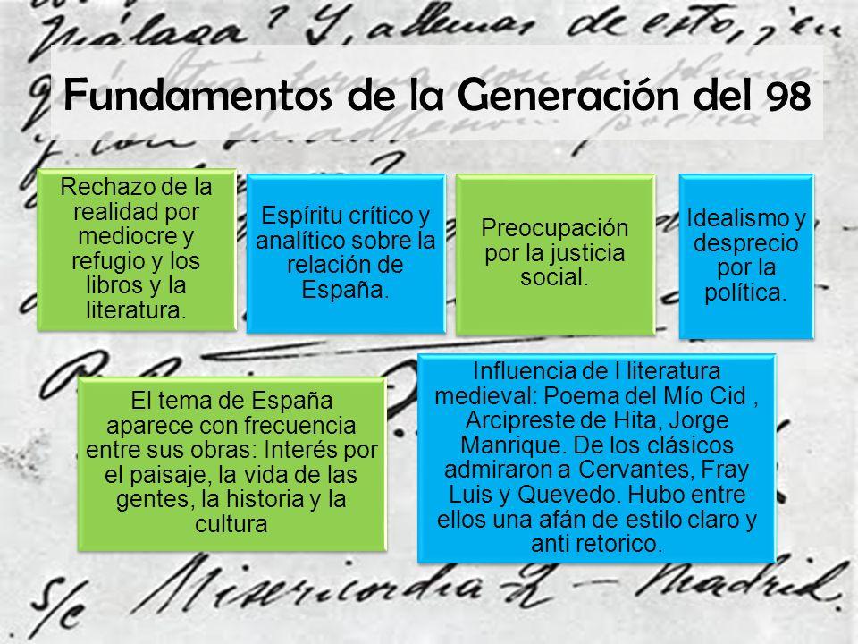 Fundamentos de la Generación del 98