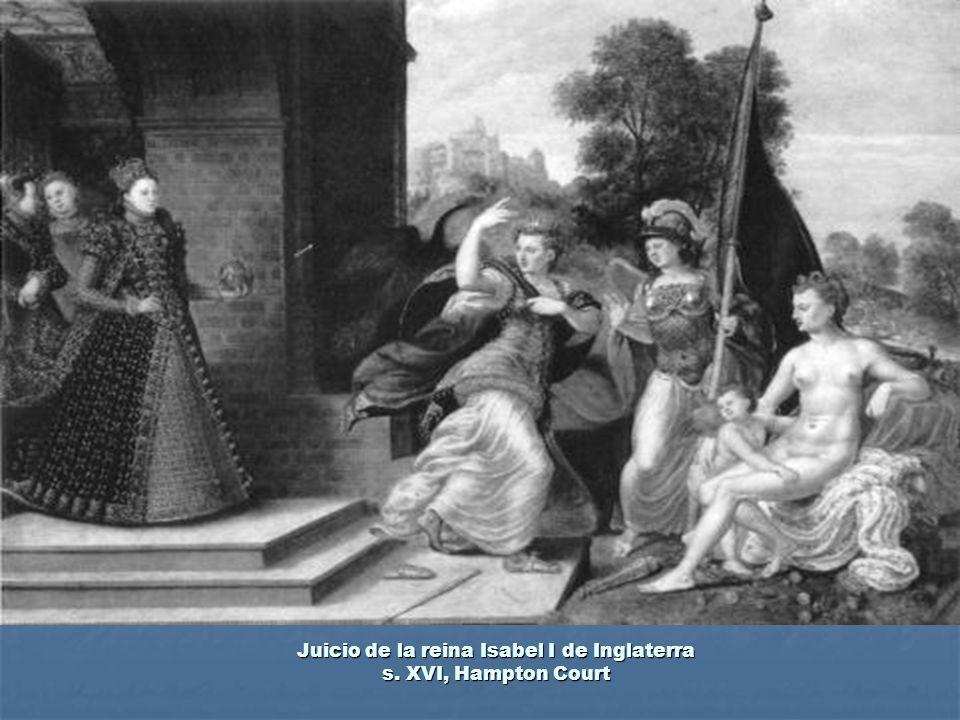 Juicio de la reina Isabel I de Inglaterra s. XVI, Hampton Court