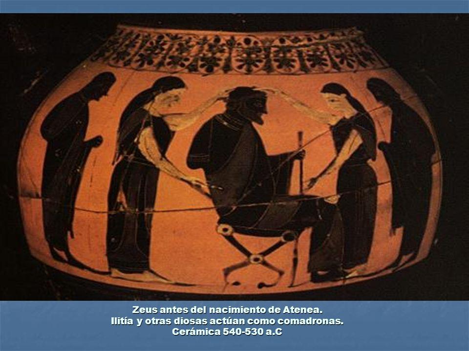 Zeus antes del nacimiento de Atenea