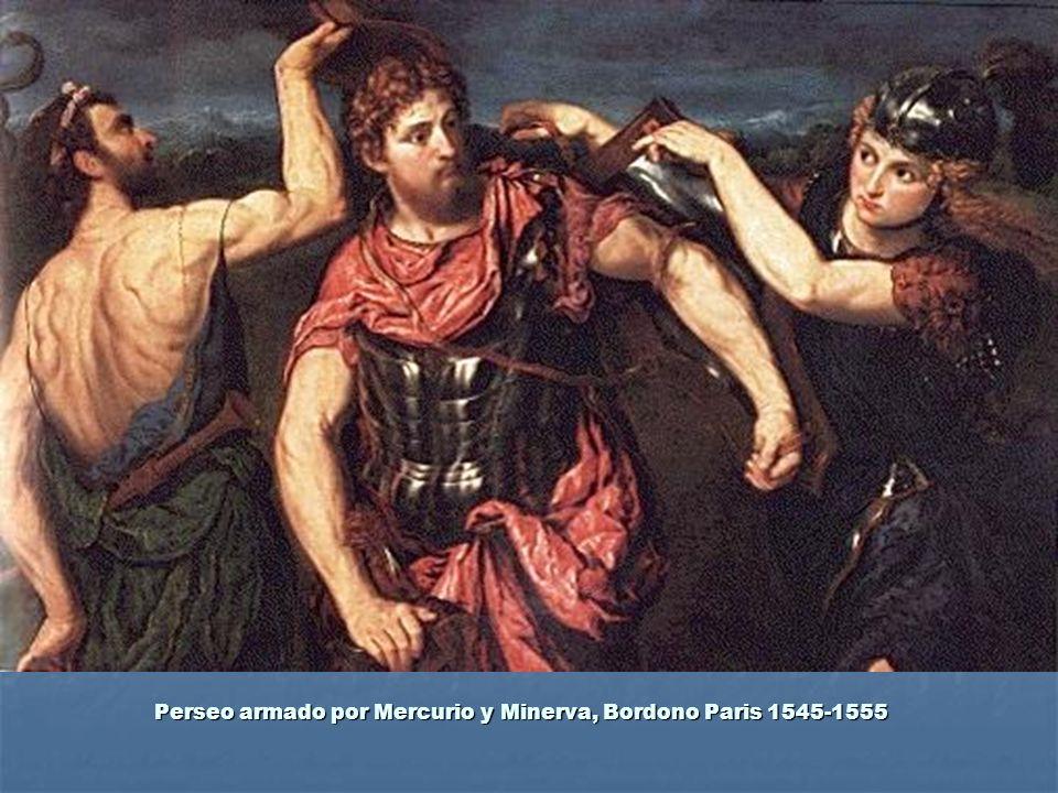 Perseo armado por Mercurio y Minerva, Bordono Paris 1545-1555