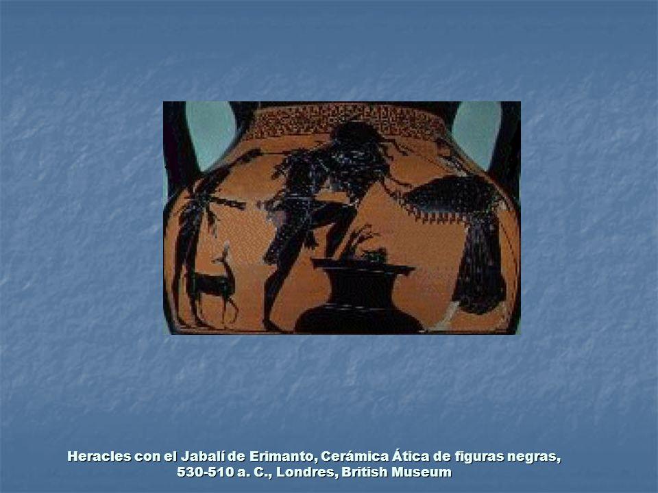 Heracles con el Jabalí de Erimanto, Cerámica Ática de figuras negras, 530-510 a.