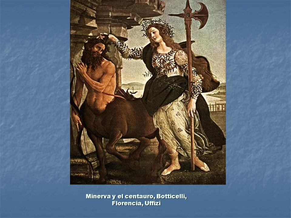 Minerva y el centauro, Botticelli, Florencia, Uffizi