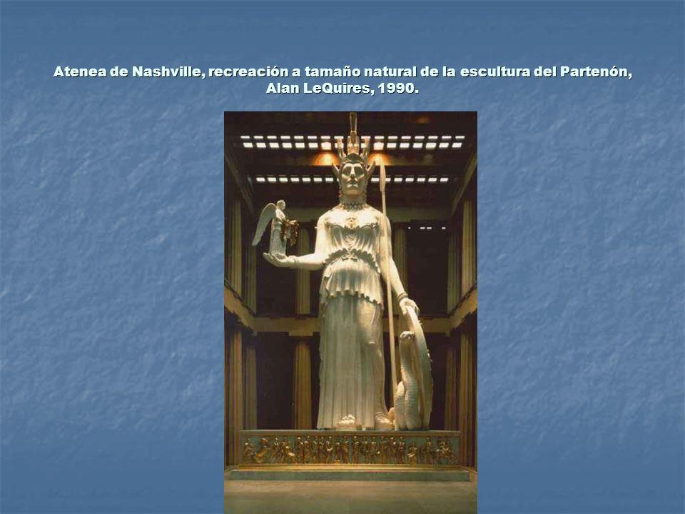 Atenea de Nashville, recreación a tamaño natural de la escultura del Partenón, Alan LeQuires, 1990.