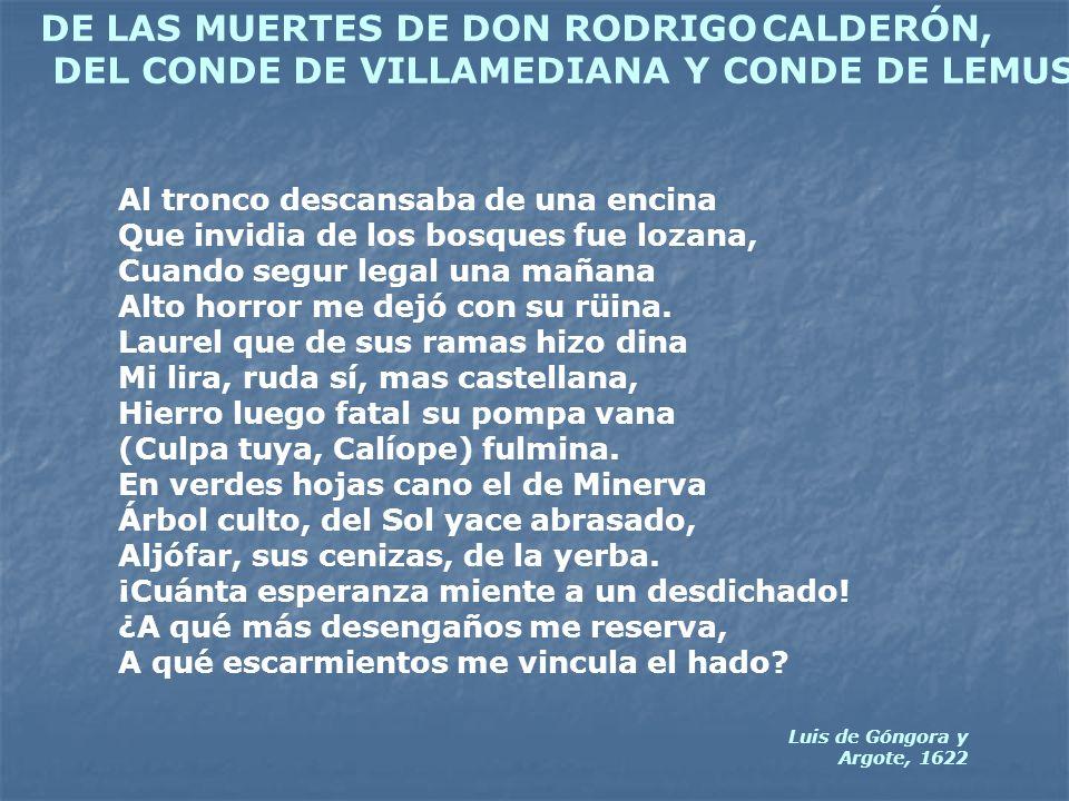 DE LAS MUERTES DE DON RODRIGO CALDERÓN,