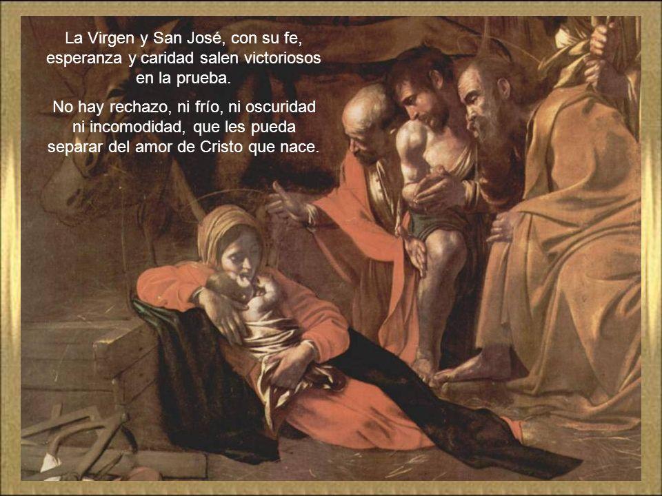 La Virgen y San José, con su fe, esperanza y caridad salen victoriosos